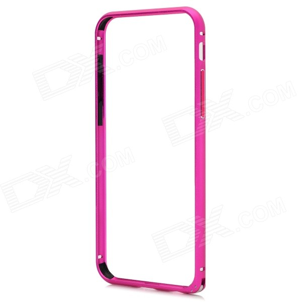 Protective Arc Shaped Aluminum Hippocampus Buckle Bumper Frame for IPHONE 6 4.7 - Deep Pink arc shaped hem plaid hoodie