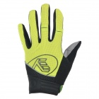 NUCKILY PD04 Sports Breathable Full-Finger Cycling Gloves - Yellow (Size M)