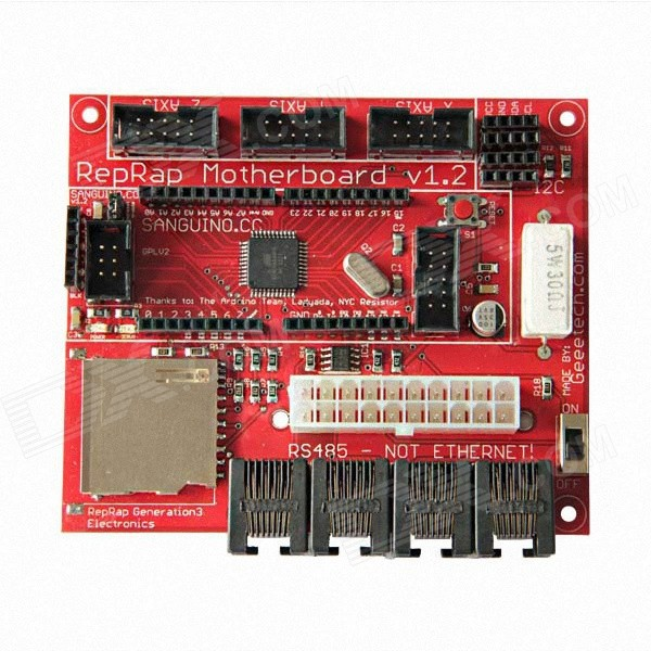 Geeetech Motherboard V1.2 ATmega644p Controller Module - Red twister family board game that ties you up in knots