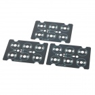 JRLED 6-Pin RGB LED Emitter Series Connection PCB Boards - Black + Silver (3 PCS)
