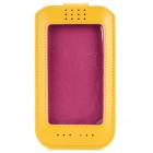 "Protective Touch Screen PU Case for IPHONE 6 4.7"" - Deep Pink + Yellow"