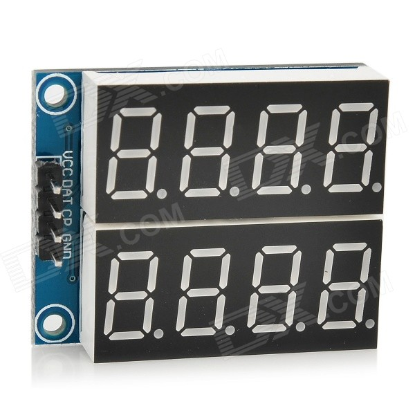 YaoSheng BB125 Digital 5V 0.36 2-Channel 4-Digit Seven-Segment Display Module - Deep Blue lson 0 4 8 digit 7 segment digital display module deep blue 5v