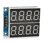 "YaoSheng BB125 Digital 5V 0.36"" 2-Channel 4-Digit Seven-Segment Display Module - Deep Blue"
