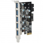 ULANSON PCI-E USB 3.0 5-Port & 19-PIN Expansion Card