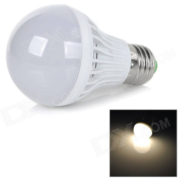 E27 5W 450lm 2700K 10-SMD 5730 LED Warm White Light Bulb - White + Silver (AC 220V)