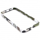 Protective Aluminum Alloy Bumper Frame Case for IPHONE 5 / 5S - White + Black