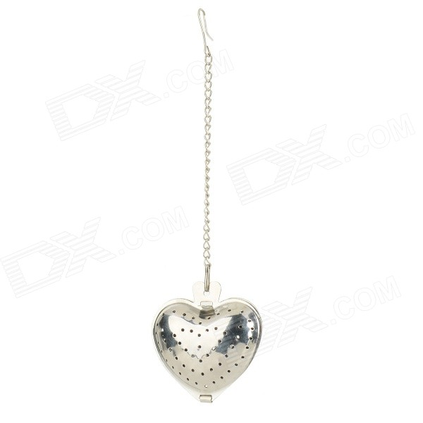 Stainless Steel Heart-Shaped Tea Leaves Filter w/ Holder - Silver 5 8 20 30 40 mesh stainless steel screen wire filter sheet woven cloth 15x30cm with wear resistance