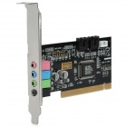 4.1-Channel PCI Sound Card for Desktop Computer - Black