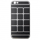 "Grid Pattern Protective Aluminum Alloy + Plastic Case for IPHONE 6 4.7"" - Black + Silver"