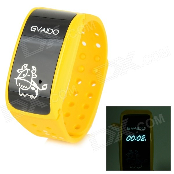 G1000 0.7 Screen Babies Kids Safety Positioning Wrist Band GPS Tracker - Yellow truck mdvr gps positioning vehicle monitoring host ahd4 road coaxial video recorder vehicle monitoring equipment