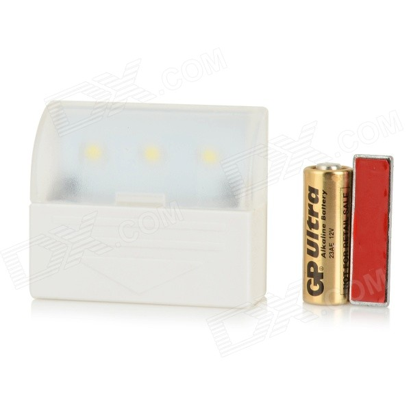 0.5W 25lm 6000K 3-0335 LED White Light Wall Light - White (12V)