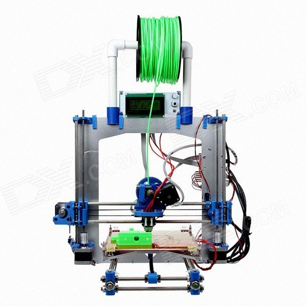 Geeetech RepRap Prusa Mendel I3 3D Printer - Blue  hictop 5 meters gt2 timing belt for reprap 3d printer prusa i3
