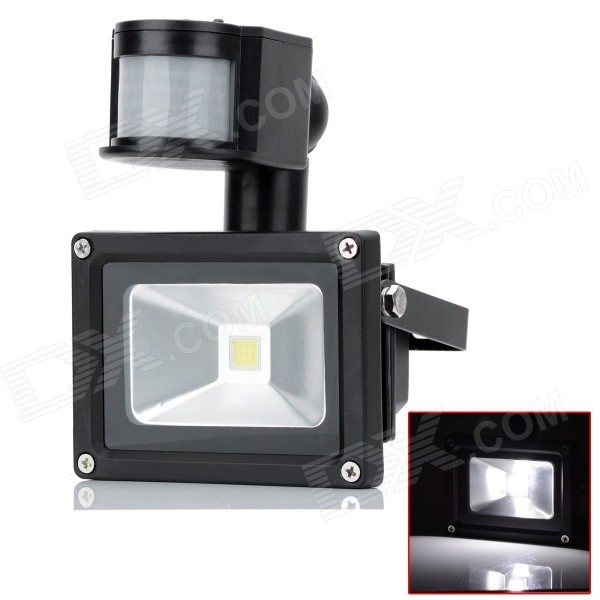 HML 10W 720lm 6000K LED White Light Human Body Infrared Induction Floodlight Lamp (AC 100~240V)