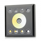 2-CH 4A LED Color Temperature Adjustable Controller w/ Touch Screen - Black + Yellow (DC12~24V)