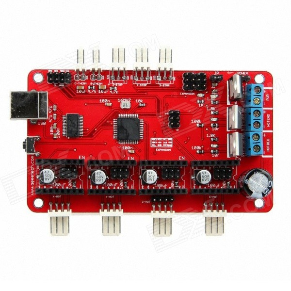 Geeetech Azteeg ATmega 644P 3D Printer Board w/ FT232RL FTDI USB Chip - Red geeetech extruder 2 2 atmega168 controller board red