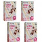 Genuine Fujifilm Instant Stripe Version Films (4 x 10PCS) (Special Offer)
