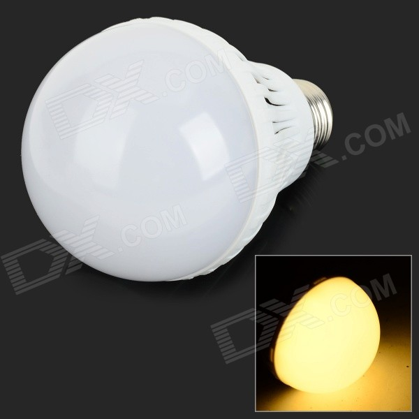 E27 9W 850lm 3500K 18-SMD 5730 LED Warm White Light Bulb - White + Silvery Grey (AC 220V)