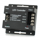 LED RGB Light Strip Touch Dimmer Controller w/ Remote Control - Black (12~24V)