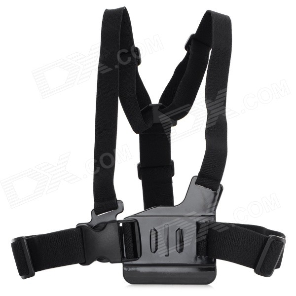 HTL-308 Chest Strap w/ 3-way Adjustment Base for GoPro Hero 3+ / 3 / 2 / 1 - Black dimarzio 2 inch nylon strap w leather ends black dd3100nbk