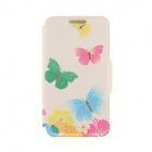 "Kinston KST91818 Butterlfy w/ Rhinestones PU Leather + Plastic Cover for IPHONE 6 4.7"" - Multicolor"