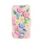 "Kinston KST91820 Petunia Pattern PU Leather + Plastic Cover for IPHONE 6 4.7"" - Pink + Multicolored"