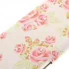 "Kinston KST91822 Flowers Pattern PU Leather + Plastic Cover for IPHONE 6 4.7"" - Beige + Multicolored"