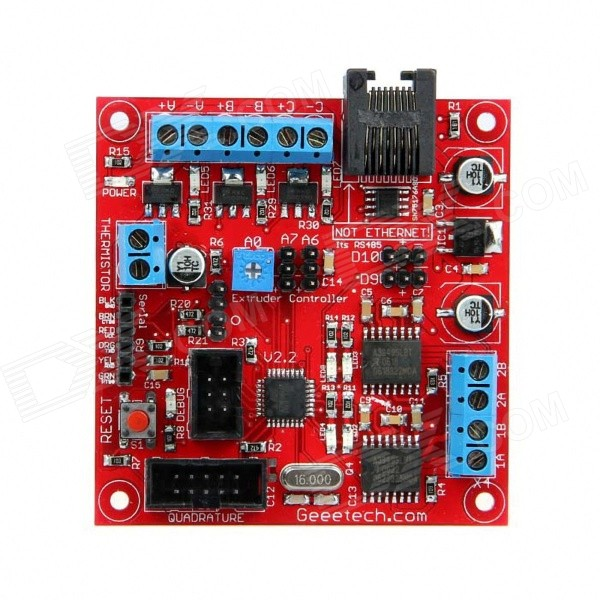 Geeetech Extruder 2.2 ATmega168 Controller Board - Red free shipping factory directly selling extruder controller 2 2 control module board motherboard for 3d printer