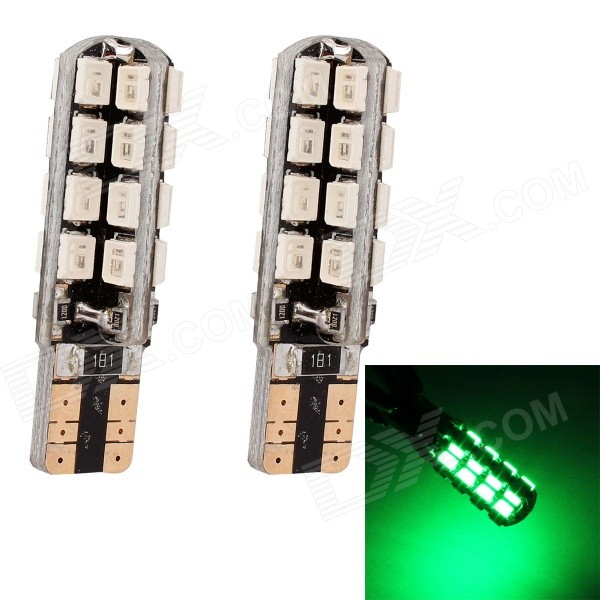 MZ T10 5W 320lm 32-SMD 3535 LED Green Light Car Clearance Lamp / Signal Light (12V / 2 PCS)