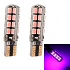 MZ T10 5W 320lm 32-SMD 3535 LED Pink Light Car Clearance Lamp / Signal Light (12V / 2 PCS)