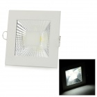5W 450lm 6500K COB LED White Light Ceiling Lamp - White + Silvery Grey (AC 90~265V)