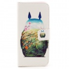 "Stylish Pattern Protective Flip-open PU Leather Case w/ Stand / Card Slots for IPHONE 6 4.7"" - White"