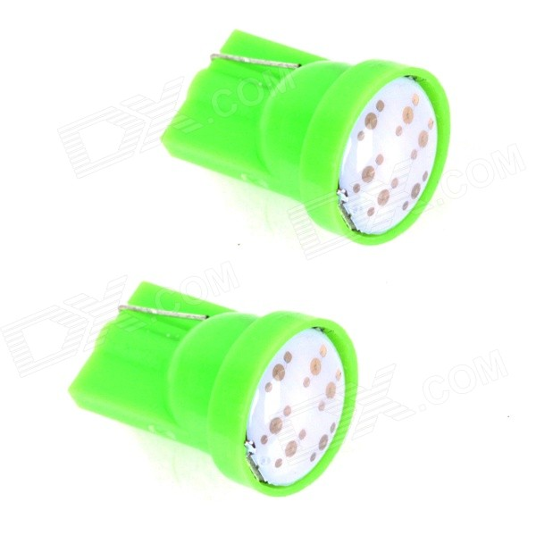 ZnDiy-BRY T10 1W 70lm COB LED Green Car Instrument Lamp / Side / Instrument Light (12V / Pair)