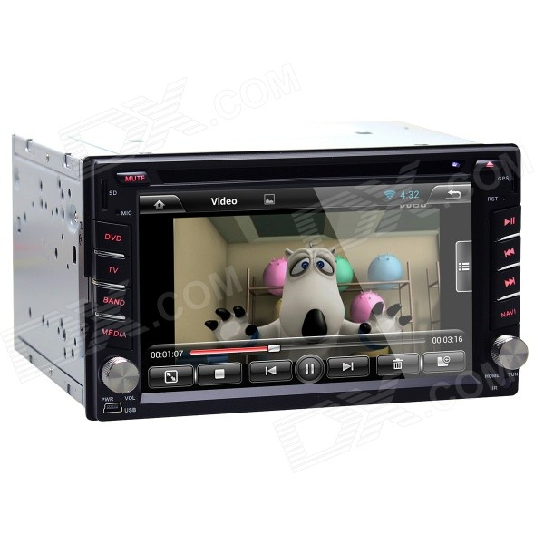Joyous J-2823A 6.2 Android 4.2.2 Dual-Core Car DVD Player for Honda City / CRV / Fit + More - Black joyous 1 6g dual core android 4 2 capacitive screen car dvd w radio gps rds bt wifi 3g