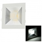 15W 1200lm 6500K COB LED White Light Ceiling Lamp - White + Silvery Grey (AC 90~265V)