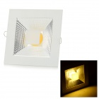 10W 950lm 3500K COB LED Warm White Light Ceiling Lamp - White + Silvery Grey (AC 90~265V)