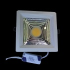 15W 1200lm 3500K COB LED Warm White Light Ceiling Lamp - White + Silvery Grey (AC 90~265V)