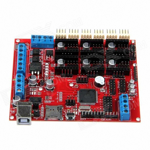 Geeetech Megatronics Atmega2560-16AU V2.0 Controller Board - Red vector optics sphinx 1x22 mini reflex compact green dot sight scope very light with 20mm weaver mount base