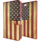 IPY-i602 Retro USA Flag Pattern Protective Flip-Open PU + PC Case for IPHONE 6 4.7 - Multi-colored