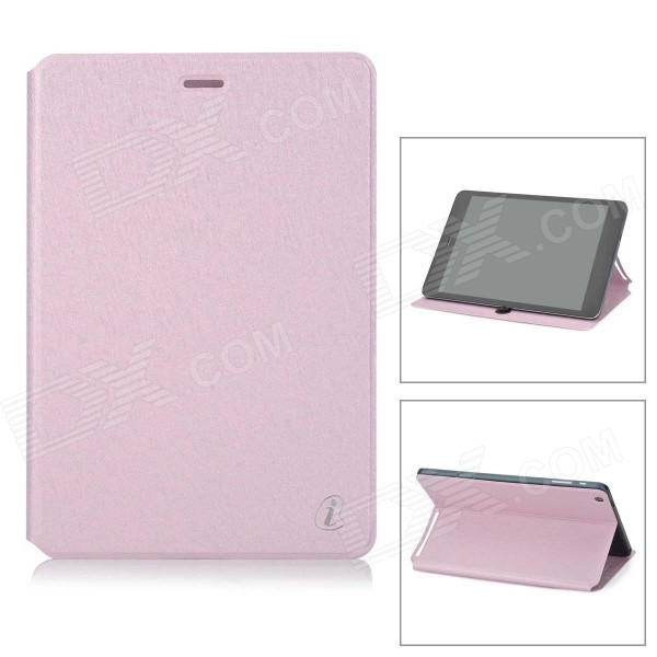 Protective Flip-open PU Leather Case w/ Stand for Cube Talk79 - Pink ocube full body pu leather protective case for cube talk 11