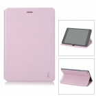 Protective Flip-open PU Leather Case w/ Stand for Cube Talk79 - Pink