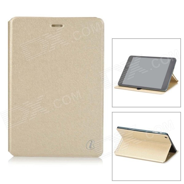 Protective Flip-open PU Leather Case w/ Stand for Cube Talk79 - Gold ocube full body pu leather protective case for cube talk 11