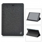 Protective Flip-open PU Leather Case w/ Stand for Cube Talk79 - Black
