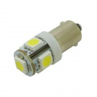 HONSCO BAX9s H6W 1W 70lm 5-SMD 5050 LED 6500K Cold White Light Car Signal Bulbs (Pair / 12V)