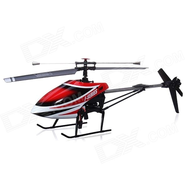 MJX F49 2.4G 4-CH Single-Blade R/C Helicopter Toy w/ Videography Function - Red + White + Black wltoys wl r4 2 9 lcd 6 axis multi function remote controller for r c toy black 4 x aa