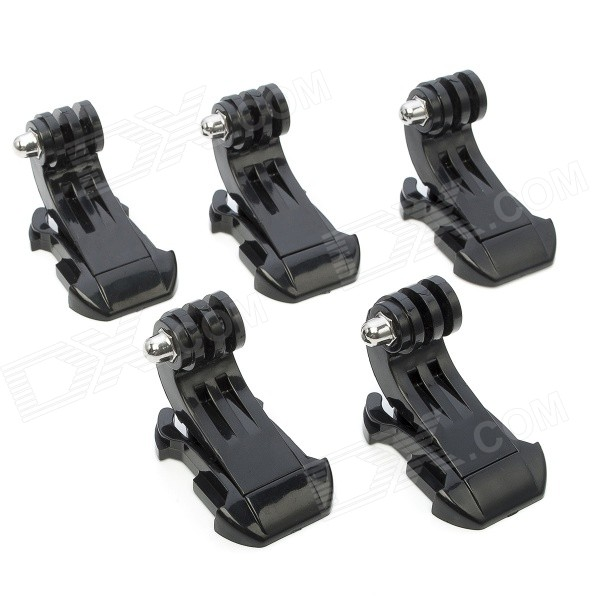 J-Shape Fast Assembling Mount Buckles for GoPro, SJ4000 - Black (5PCS)Mounting Accessories<br>Form  ColorBlackBrandJUSTONEModelJ098MaterialPlastic +SteelQuantity5 DX.PCM.Model.AttributeModel.UnitCompatible BrandGopro / SuptigCompatible ModelGopro / SupTig/SJ4000/SJ5000Shade Of ColorBlackCompatible ModelsOthers,Gopro Hero 4/ 2/3/3+/SJ4000/SJ500RetractableNoMax.LoadN/A DX.PCM.Model.AttributeModel.UnitPacking List5 x J-Shape Mount<br>