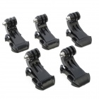 J-Shape Fast Assembling Mount Buckles for GoPro, SJ4000 - Black (5PCS)