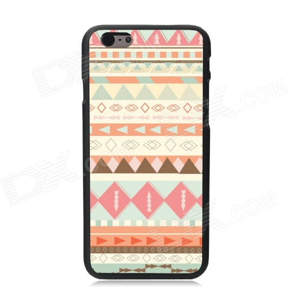 Elonbo Tribal Pattern Plastic Hard Back Cover Case for IPHONE 6 4.7 - White + Orange elonbo beautiful stripe plastic hard back cover for iphone 6 4 7 inch