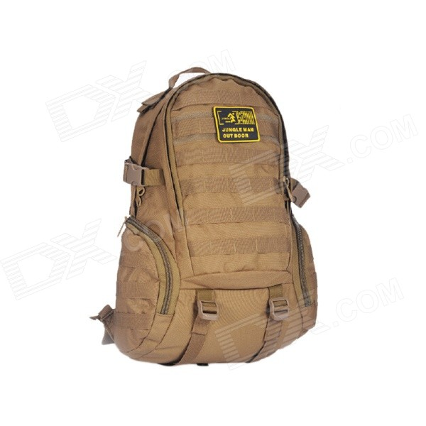 JUNGLE MAN T186 ulkouima Patikointi kiipeily 3D Taktinen Nylon hartiat laukku reppu - Coyote Brown