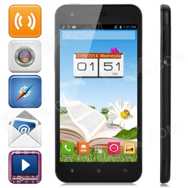 PHICOMM X100w 4.7 Capacitive Quad-Core Android 4.1.2 Smart Phone w/ 1GB RAM, 8GB ROM, GPS - Black