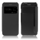 Hat-Prince Protective PU + PC Case w/ Call Display for IPHONE 6 PLUS - Black